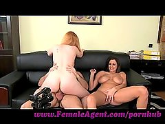 FemaleAgent. Curvaceous redhead in first time anal casting