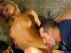 Gorgeous prisoner with awesome belly is having nonstop sex