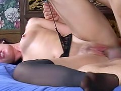 Olivia Saint with big behind wants her bf to lick her pussy on the stairs