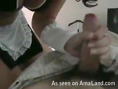Sexy Maid Latina Gives Her Man a Good Fuck