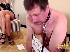 Slave Begs Master And Helper To Discipline