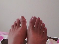 Foot fetish tease from a cute teenage girl