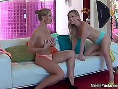 Behind the scenes with Nicole Aniston and Cherie Deville