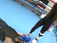 Sexy Asian Goddess Karate Feet KO (Amazing Victory Pose Finish)