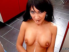 German Beauty Step-Mom Help Step-Son