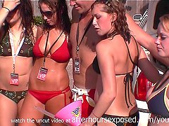home video from spring break with hot bikini girls showing their huge tits