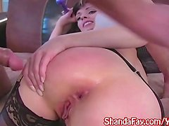 Kinky Canadian Milf Shanda Fay Gets Anal Cream Pie in Stockings!