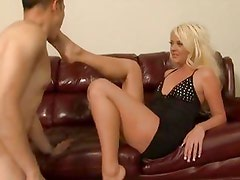 Courtney Taylor makes sure her man does as he's told