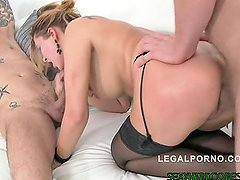 Anna Polina in Double anal