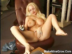 Hot Blonde Angelina Play Her Boobs And Pussy