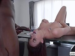 Chanel Preston gets fuck on the table