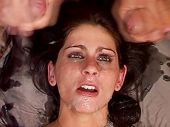 To much cum for her eyes