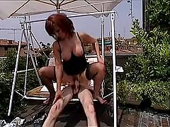 Teresa Visconti gets fucked in the ass at the balcony in Rome