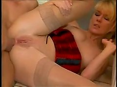 German housewife let plumber to fuck her ass