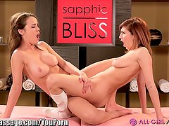 AllGirlMassage Dillion Harper and April O Neil Scissor