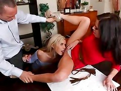 Veronica Avluv lets her friend have some fun with her man's dick