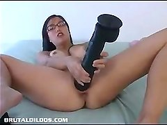 Asian ameture brutal dildo