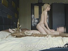 Hot Blonde Russian Escort Secretly Filmed Anal Fucked By Client