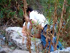 Hot Teen And her lover Getting Freaky Outdoors