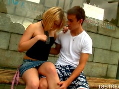 Kinky Teen Couple Gets Home for a Fuck