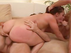 Gracie glam knows she has what it takes to squeeze two dicks till they leak