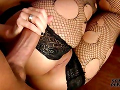 Blindfolded and tied GF hard fucked in a cage !!