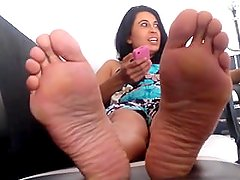mexican lady with sexy ticklish feet