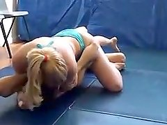 Pretty Blonde Mixed Wrestling