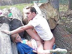 Chick rides tool in fun park