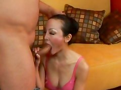 Ange Venus gets her mouth stuffed with hard cock