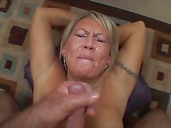 Chennin Blanc rides the pink monster for some fun until she orgasms