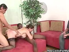 Raquel Sieb Does Two Cocks