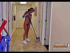 New Cleaning Lady At The Office Sophia Leone