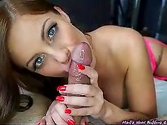 Sensual blowjob with cumshot