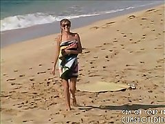 Young Blonde Teen Nude On The Beach