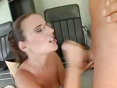 Claudia Rossi gets her face drizzled with warm cum