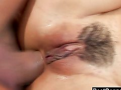 Throat Fucked Asian Babe Also Swallows