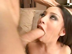 Alexis Love takes a big dick and lets the jizz cover her completely