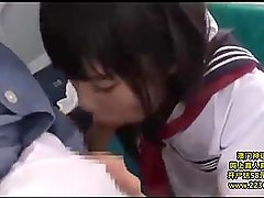 813 Cute schoolgirl groped in public