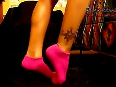 Ebony Teen Sexy Socks Tease HD