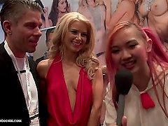 Anikka Albrite & husband tell Asian Harriet Sugarcookie how they met at AVN