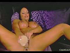 Busty Muscular Milf Fucks Pussy And Ass With