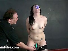 Humiliated slave Isabel Deans pegged and pain