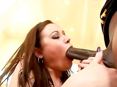 Sindee Jennings doing what she does best on a extra large cock