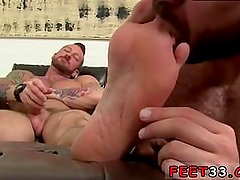 Young gay boys feet fetish first time Hugh Hunter Worshiped Until He Cums