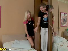 Rough Anal Sex For A Very Cute Blonde Teen