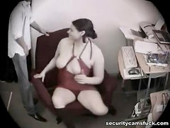 Brunette With Big Tits Getting Nailed In Voyeur Clip