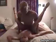 Blonde Hottie With Natural Tits Blows Her Boyfriend And Gets Fucked