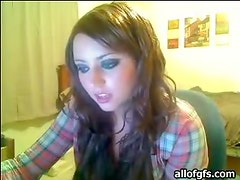 Shy College Girl Shows Off Her Perky Boobs