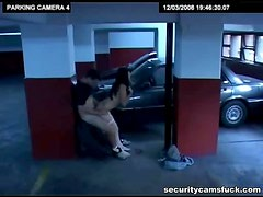 Sexy Brunette gets Banged in the Garage